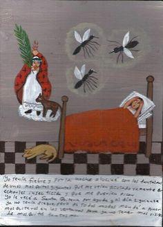 Mexican Exvoto Retablo EX Voto Mosquitos Ghost | eBay