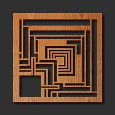 frank lloyd wright interior wood trim details | Wooden Trivet adapted from Frank Lloyd Wright Designs