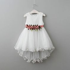 Girls Dress New Children Clothing Princess Flowers Belt Mermaid Party Dress 2 Colors Kids Clothes Frock Design, Little Girl Dresses, Girls Dresses, Flower Girl Dresses, Matching Family Outfits, Baby Outfits Newborn, Kind Mode, Baby Dress, Kids Outfits