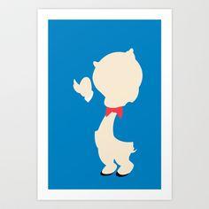 Looney Toons - Porky Pig Art Print by TracingHorses