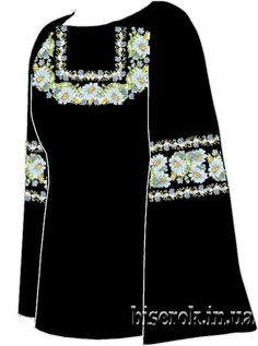 Льняная чёрная женская вышиванка СВЖЧ-21