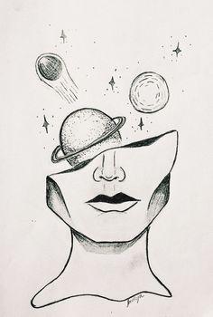 Al: Aliza👸🏼 ❥ - Bleistiftzeichnung - Art Sketches Space Drawings, Cool Art Drawings, Pencil Art Drawings, Art Drawings Sketches, Easy Drawings, Drawing Ideas, Tumblr Art Drawings, Sketch Art, Drawings Of Eyes