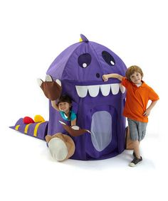 Too cute!! Puppet Dinosaur Pop-Up Play Tent by Bazoongi #zulilyfinds