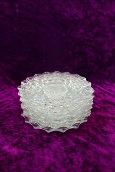 "Vintage Fostoria American Glass 7 3/4"" Salad/Lunch Plates Set of 8 #Fostoria #734SaladLunchPlates"