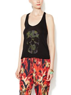 Trish Camo Skull Tank ( perfect example, a skull that's a designer piece, she can't bitch about that )