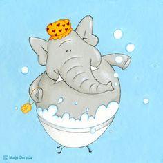 Elephant in bathtub