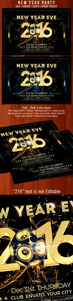 New Year Party Flyer  Party Flyer Flyer Template And Christmas Flyer