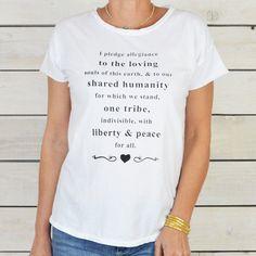 I Pledge Allegiance To The Loving... ~ 100% Cotton Tee
