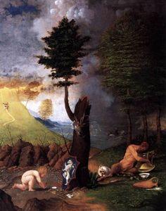 "Virtudes, Vícios E Pecados...  ""Alegoria Da Virtude E Do Vício"", Lorenzo Lotto, 1505, Galeria Nacional de Washington."