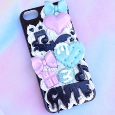 Pastel Goth Phone Case - Polymer Clay - Molds - Fabric Paint - Silicone