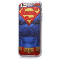 Super Man Pattern PVC Material Protective Back Case for iPhone 6 / 6S