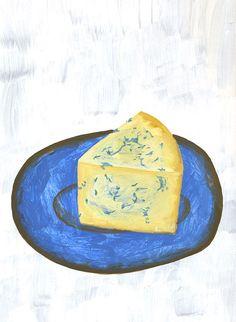 Cheese Painting by illustrator Fumi Koike, via Miss Moss