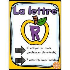 """L'alphabet - La lettre """"R"""""""