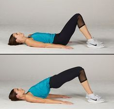 There's nothing more glorious than well-toned butt. The simple glute bridge exercise can help boost your lower body strength for sports and life. Here's how to do a glute bridge workout for a sexy butt. Leg Workout At Home, Gym Workout Tips, At Home Workouts, Body Fitness, Physical Fitness, Fitness Tips, Straight Leg Deadlift, Tighten Stomach, Posture Exercises
