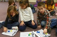 Distinguishing between lines & spaces and high & low (K-1 lesson)