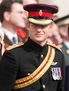 Prince Harry during a Service of Commemoration for troops who were stationed in Afghanistan on 13.03.2015 in London, England.