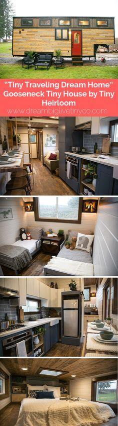 """""""TINY TRAVELING DREAM HOME"""" GOOSENECK TINY HOUSE BY TINY HEIRLOOM"""