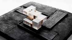 Dutches Conty Guesthouse by Allied Works Architecture - resin and timber model