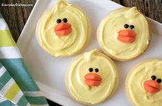Easter chick cookies recipe (veganize)