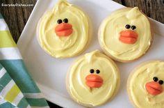 Easter chick cookies recipe (veganize)