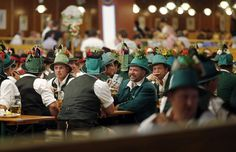 The opening parade of the two-week German beer festival featured lots of impressive headwear. (And, of course, lederhosen. German Beer Festival, Munich Oktoberfest, Opening Weekend, Lederhosen, Bavaria Germany, Nbc News, Green Fashion, Photo Galleries, Two By Two