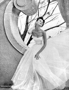 Vogue, 1953. Wedding dress?