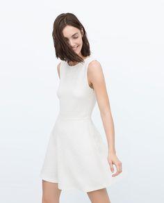 Image 1 of JACQUARD DRESS WITH FULL SKIRT from Zara