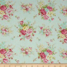 V Large FQ Tanya Whelan Petal Ivory Polka Dot on Pink Home Décor Cotton Fabric