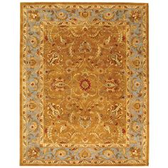 Safavieh Handmade Heritage Timeless Traditional Brown/ Blue Wool Rug (9'6 x 13'6) | Overstock.com Shopping - The Best Deals on Oversized Rugs