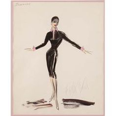 Ciao Bellísima - Vintage Sketchbook; Zizi Jeanmarie | Edith Head Design (production unknown)