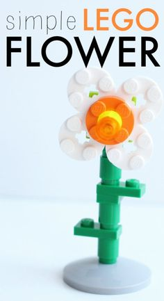 Simple LEGO Flower Step-by-Step Tutorial: Make one or make a garden full of flowers!