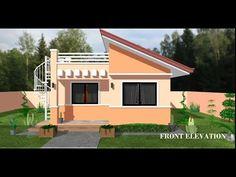 ARKIX3D - YouTube Modern Roof Design, House Roof Design, Modern Small House Design, Rooftop Design, Bungalow House Design, Bungalow Floor Plans, Modern House Floor Plans, 3d House Plans, Porch House Plans