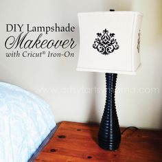 Lampshade Makeover with Cricut Iron-On