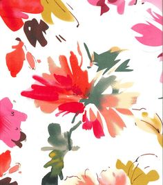 Simply Silky Print- Sara Pink Watercolor Flowers Charmeuse & Fashion Collections at Joann.com