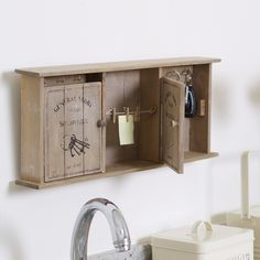 Keys and Things Wall Tidy #gifts #organiser #wood #keys #kitchen