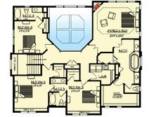 Floor 2, house plan 73330HS, Craftsman open floor plan