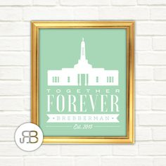 LDS Indianapolis Indiana Temple Personalized by RoseBlossomPrints