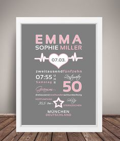 Boy Names, Decoration, Baby Love, Birth, Etsy Shop, Frame, Surnames, Diy Baby, Crafts