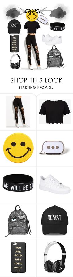 """""""Swag!"""" by glasssheart ❤ liked on Polyvore featuring Ted Baker, Hollywood Mirror, PINTRILL, NIKE, Chiara Ferragni, ban.do and Beats by Dr. Dre"""