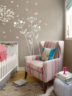 Dandelion with Butterflies Dandelion decal Abstract by OwlHills, $36.00