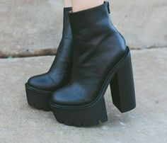 Eugenie from Feral Creature in the Mulder Platform Boot by Jeffrey Campbell