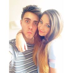 Zoe Sugg aka Zoella and her boyfriend Alfie Deyes aka Pointless Blog. Two very awesome YouTubers :) Search for their videos and subscribe! x
