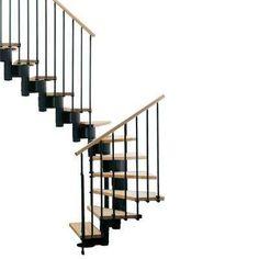 """Kompact 29 in. Black Modular Staircase """"U"""" Kit"""