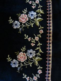 French Embroidery on Silk by LadidaHandbags on Etsy