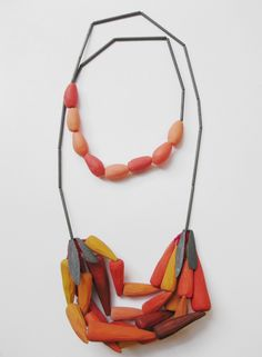 natalie m.p.CHILI GARLAND. A carved timber and oxidised sterling silver necklace made for Bad Beasts Do Not Harm Me exhibition.