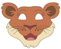Printable Coloring Pages Animals Jungle : Printable monkey animal mask parties: jungle safari zoo
