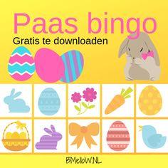 Paas bingo. Speciaal voor kinderen. Gratis te downloaden. Bingo, Fun At Work, Preschool Activities, Homeschool, Crafts For Kids, Easter, Memories, Christmas, Trapillo