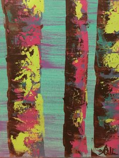Trees painting by Anna Gibbs
