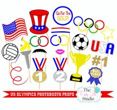 20pc US Olympic Photo Booth Props/Olympics/Sports Photobooth Props - DIGITL FILE by ThePartyGirlStudio on Etsy https://www.etsy.com/listing/293592601/20pc-us-olympic-photo-booth