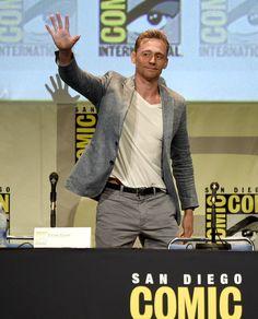 Tom Hiddleston Photos - The Legendary Pictures Panel at Comic-Con International 2015 - Zimbio